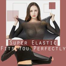 Thermal Underwear For Women Sexy Warm Long Johns For Women Seamless Winter Thermal Underwear Set Warm Thermos Clothing Women/Men winter warm outdoor sports thermal underwear set polartec long johns men women thermal underwear top pants cycling base layers 4