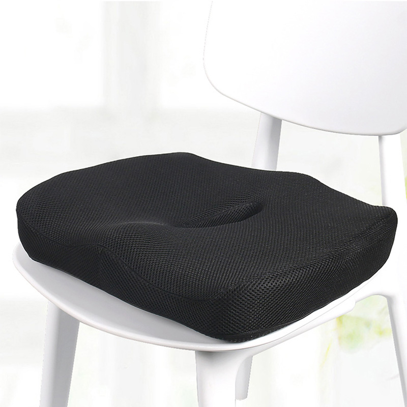 Memory Foam Seat Cushion Nerve Pain Back Sciatica Pain Relief Hip Shaping Wedge Cushion E2S