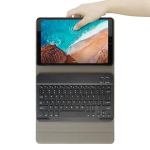 Image 2 - Capa para teclado para xiaomi mi pad 4 plus, capa de tablet com suporte removível, couro pu de 10 polegadas teclado blutooth