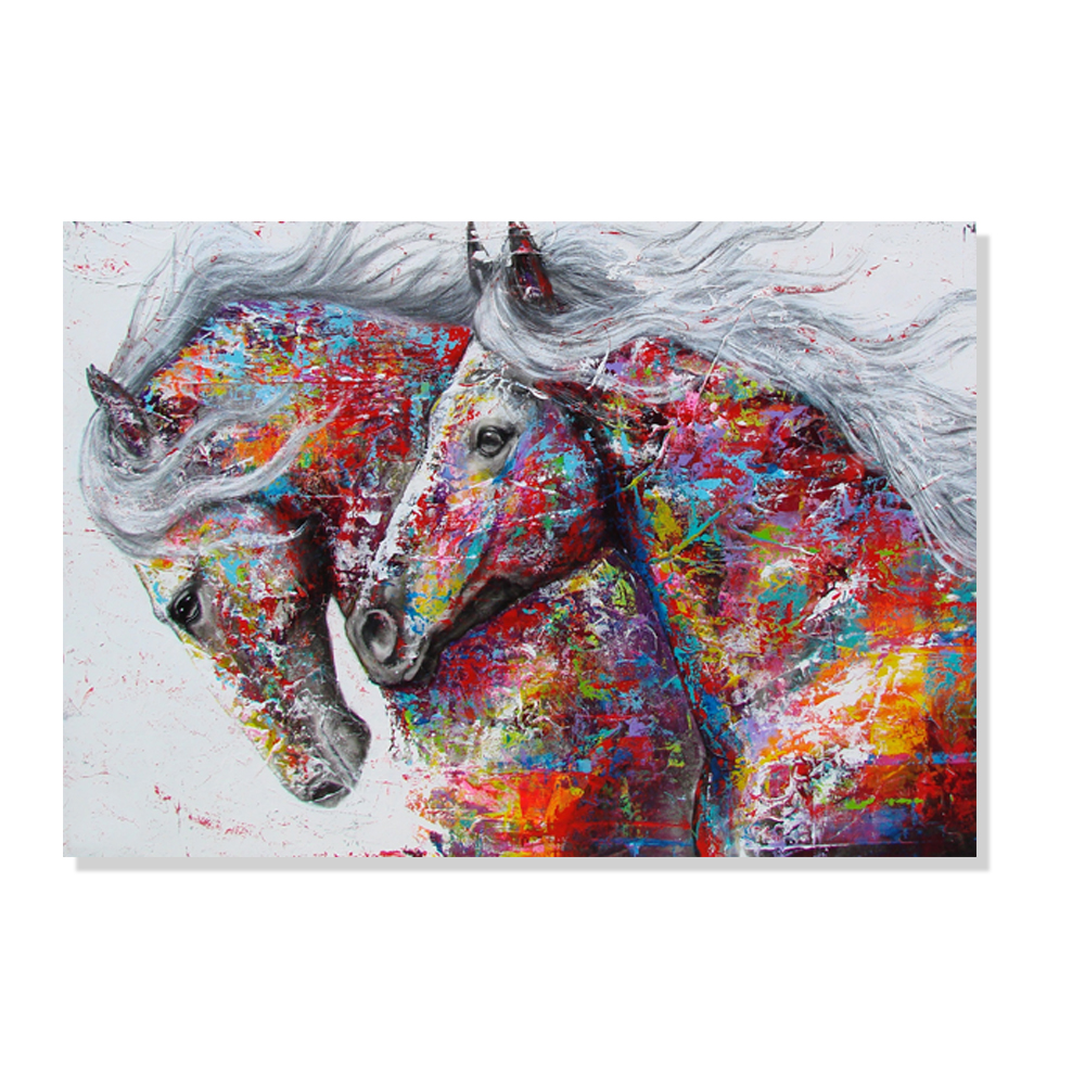 DIY Painting By Numbers Horse Picture HandPainted Oil Painting 50*40cm Zero Basis Colouring Home Decor Gift Canvas Drawing