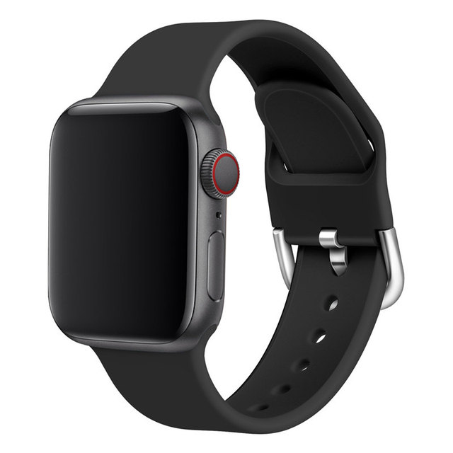 Soft Silicone Sport Strap For Apple Watch Band 44MM 40MM 42MM 38MM with Classic Buckle For Apple Watch iWatch Series 5/4/3/2/1 | Watchbands