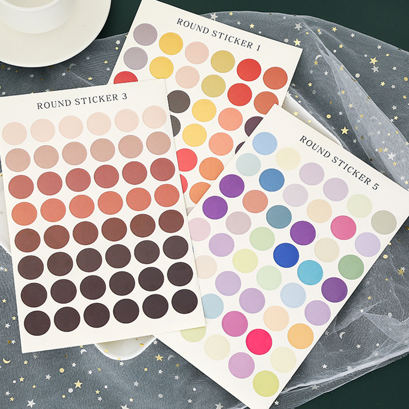 1 Pc Colorful Dot Sticker Basic Geometric Sealing Sticker DIY Scrapbooking Bullet Journal Photo Decorative Stickers Stationery