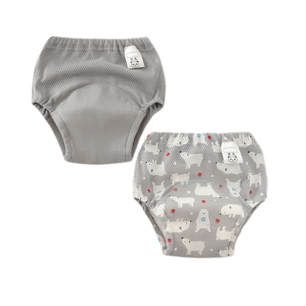 Waterproof Infant Toilet Training Pant Underwear Swimming Nappy Panties Reusable Baby Cloth Diapers Potty Training Pants 2 Pcs
