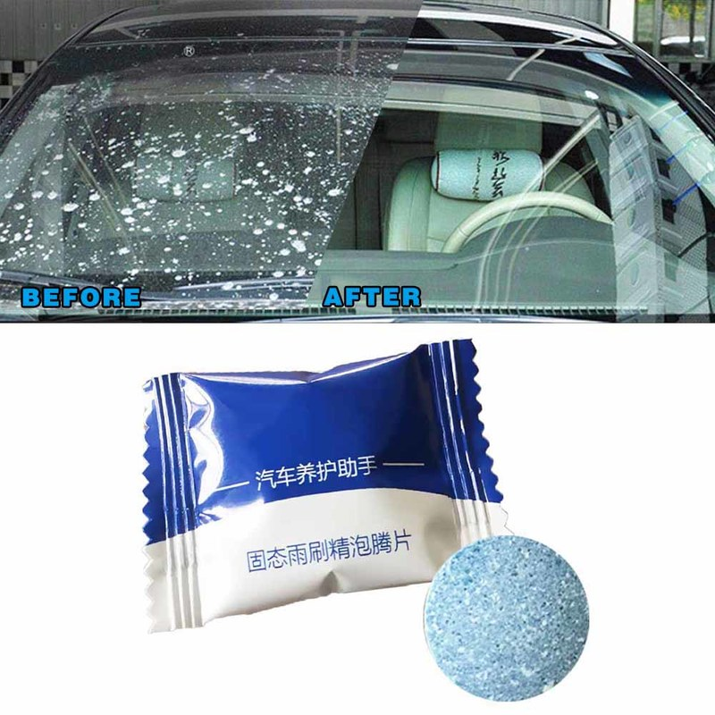 2pcs Multifunctional Effervescent Tablets Cleaner Window Cleaning Car Windshield Glass Detergent Window Repair Auto Accessories