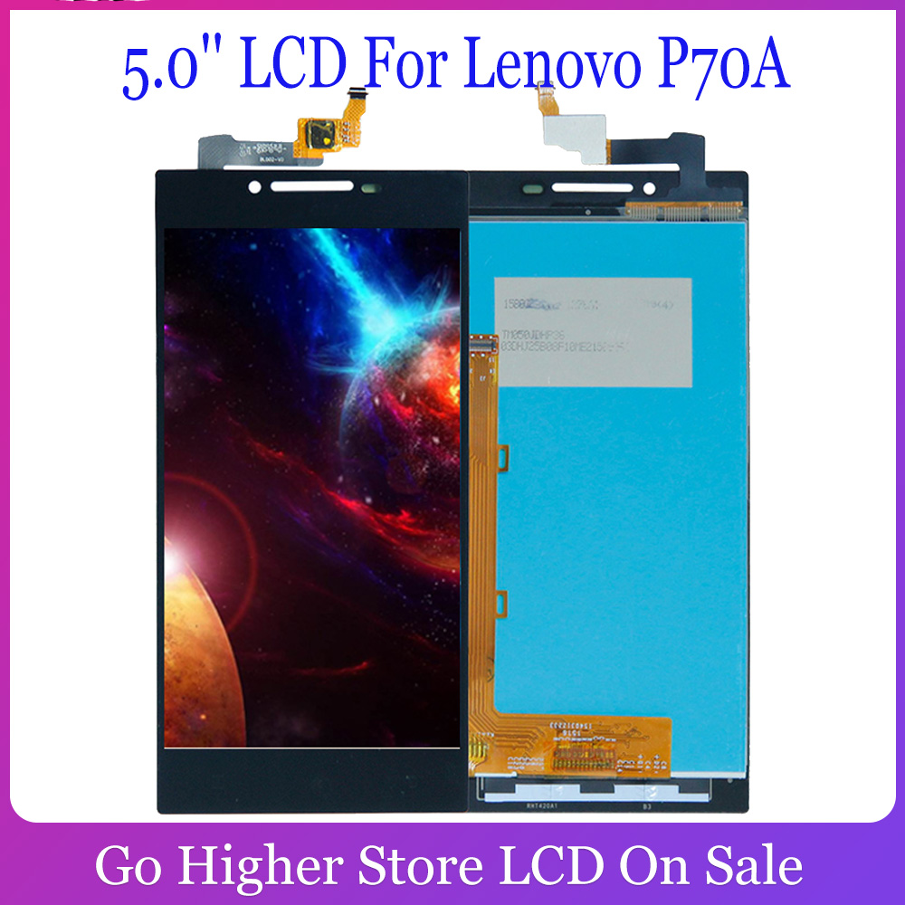 5.0'' LCD For <font><b>Lenovo</b></font> P70A <font><b>P70</b></font>-A <font><b>P70</b></font> A Lcd <font><b>Display</b></font> Touch Screen PANEL GLASS Assembly Replacement Parts 1280x720 Digitizer image
