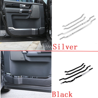 4pcs Glossy Black ABS Chrome Door Decorative Strips Cover Trim For Land Rover Discovery 4 LR4 2010 2016 Car Styling Accessories
