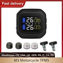 M3 עמיד למים אופנוע זמן אמת צמיגי ניטור מערכת TPMS אלחוטי LCD תצוגת פנימי או חיצוני ה/WI חיישנים