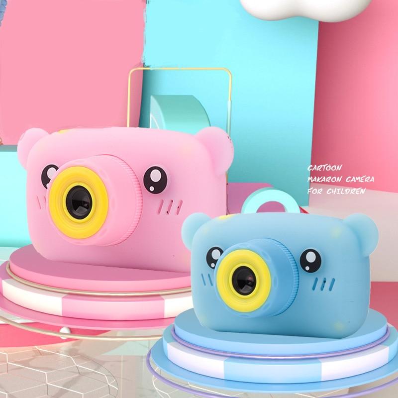 Cute Cartoon Bear Shape Children HD Digital Camera 2 Inches IPS Screen Mini Camera Fun Children's Toys F For Birthday Gift