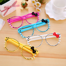 Stationery Glasses Ballpoint-Pen Writing-Supplies Office Gift School Cute Kawaii Bow