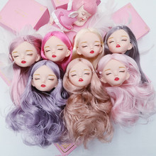 21 Movable Joint BJD 30CM Doll 1/6 White Skin Nude Long Wig Interactive Doll Fashion Change Makeup Girl Gift DIY Children Gifts toy gift free shipping 30cm doll 1 6 nude factory blyth doll 230bl1319 mint straight hair white skin joint body neo