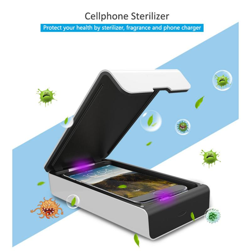 Sanitizer UV Disinfection Box Prevent Influenza Flu Viruses Cleaning Rack For Mobile Phone Makeup Tool/ Watch Sterilizing  TSLM1