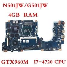 N501JW motherboard I7-4720CPU GTX960M 4GB RAM motherboard For ASUS G501J UX50JW FX60J N501JW UX501J Laptop mainboard цена