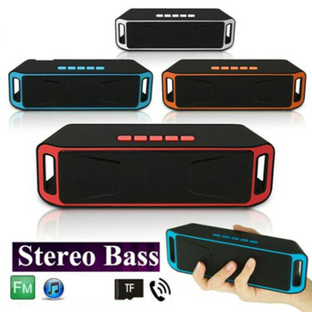 Stereo Surround Bluetooth Speaker Receiver Super Bass Wireless Speakers FM Radio Loud Bluetooth Speakers Subwoofer Outdoor Home image