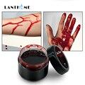 Подарок на Хеллоуин, кровь на Хэллоуин, поддельные повреждения, шрамы, ушибы, поддельная кровь, тыква, тело, лицо, косплей человека, вампира, у...