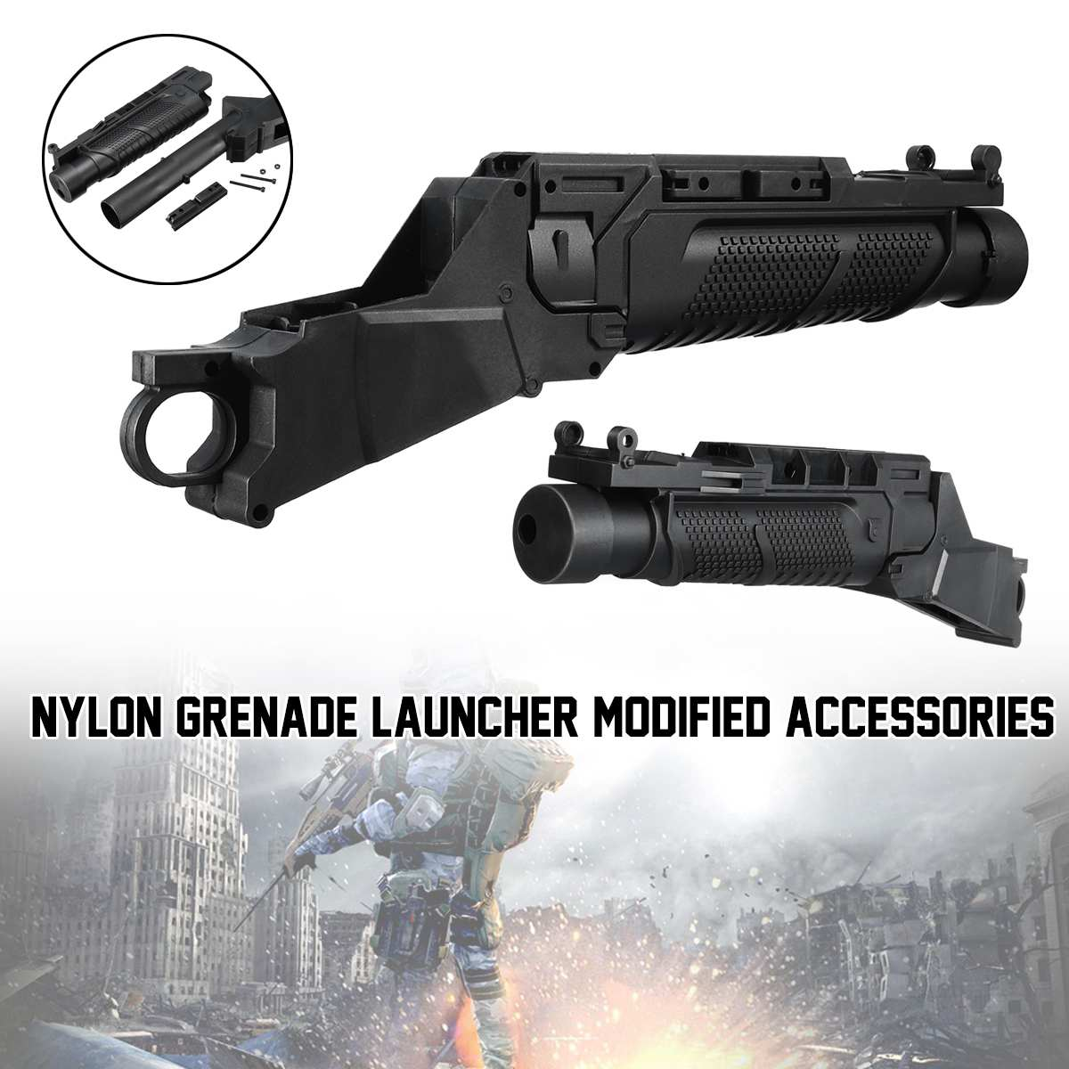 For Jinming M4 Grenade Launcher Accessories Nylon Gel Ball  Toy Water Gu N Accessories 20mm Rail