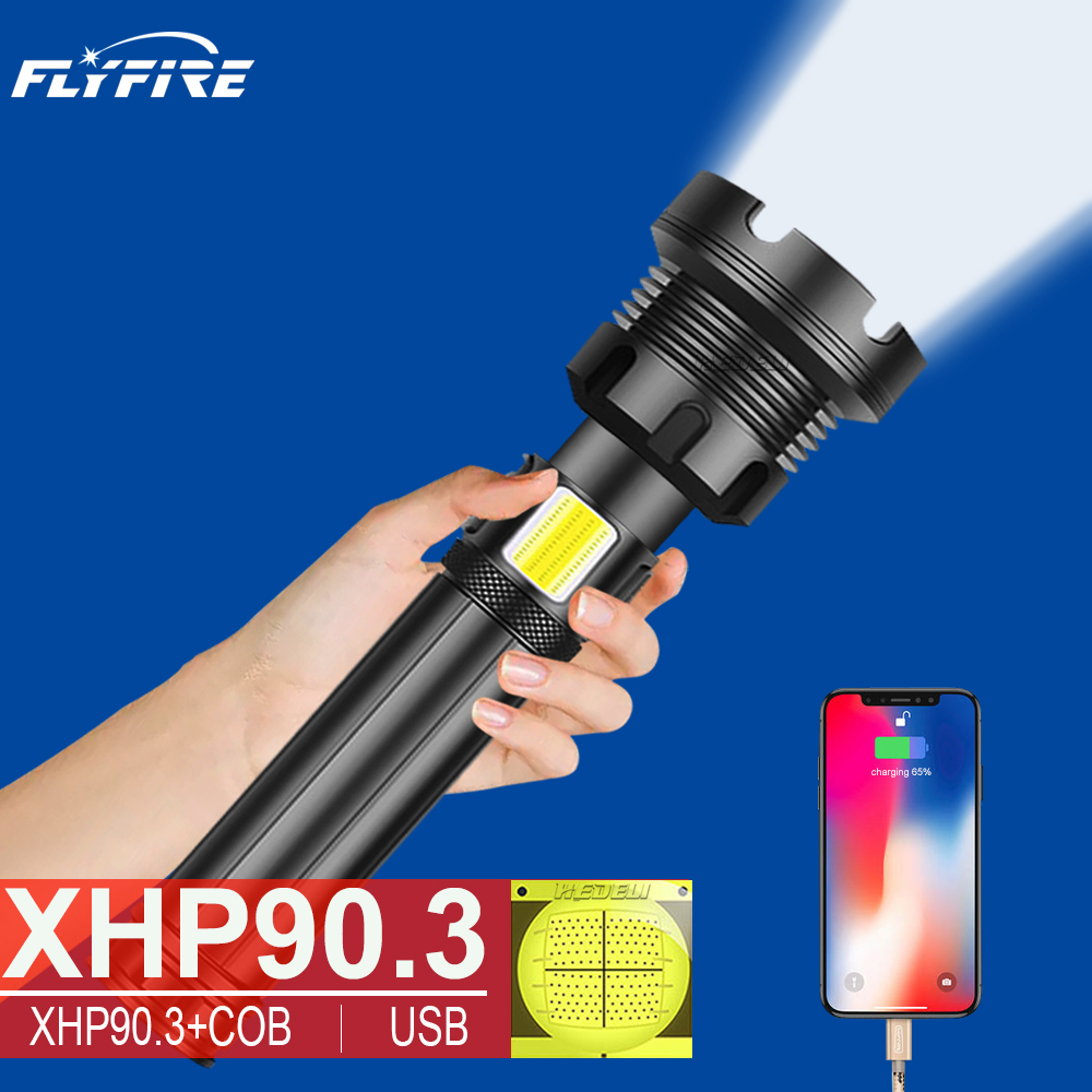 400000 Lumens XHP90 3 High Powerful LED flashlight led torch usb Rechargeable 18650 26650 flash light XHP90 XHP70 XHP50 Lantern