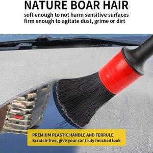Image 4 - VISBELLA فرشاة تنظيف للعجلات والسيارة والسيارة الخارجية والداخلية وعجلات السيارة وفرشاة مكيف الهواء من الجلد