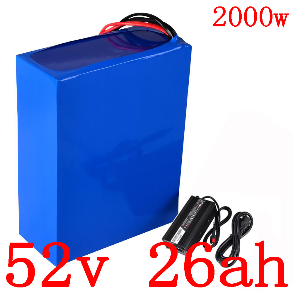 52V use LG cell battery 52V 25AH Lithium Battery pack 52V 25AH electric bike battery 58.8V Charger for 48V 1000W 1500W motor