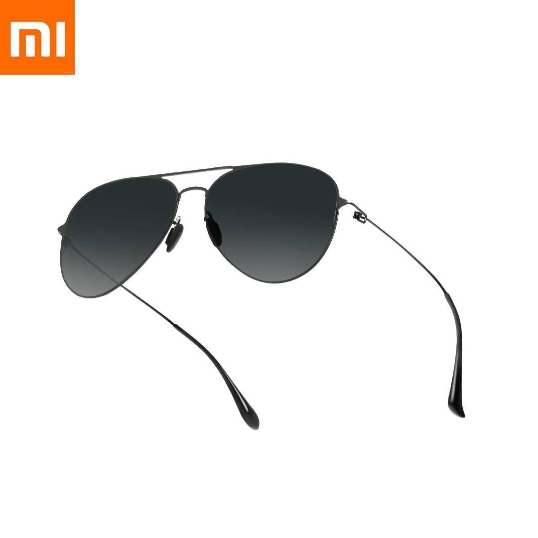 Оригинальные солнечные очки Xiaomi Mijia Pilot Pro с защитой от ультрафиолета и антибликовым покрытием 1 мм ультра-мелкая зеркальная ножка Xiomi для муж...