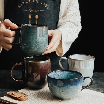 Kreatywny Retro kubek ceramiczny osobowość Trend kubek japoński minimalistyczny kubek filiżanka kawy gospodarstwa domowego kubki na wodę i kubki zabawny kubek tanie i dobre opinie CN (pochodzenie) Porcelany kubki do kawy Europejska Ze wszystkim Z łyżeczką Mugs Ekologiczne 301ml ()-400ml (Included)
