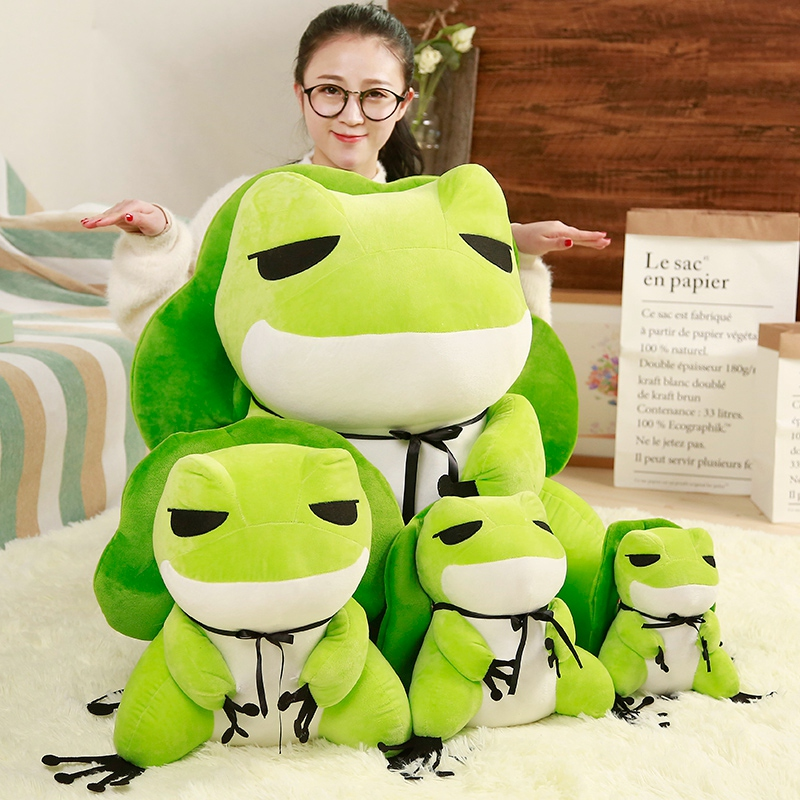 Japan Kawaii Casual Game Travel Frog Plush Backpack Shoulder Bag Stuffed Animal Toy Doll For Children Girls Kids Birthday Gifts
