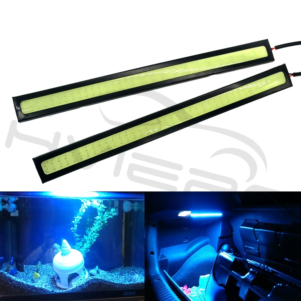 2x White COB LED Waterproof Driving Car Auto DRL Daytime Light Fog Lamp Bar 14cm