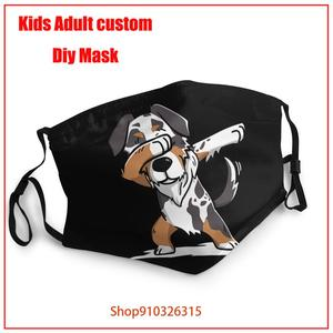 Australian Shepherd Dabbing Dog Dab Unisex Outdoor Face Mask Washable Reusable Mask Boys Girls Breathable Haze Proof pm2.5 mask