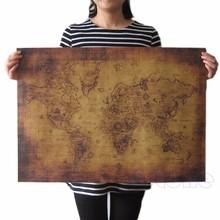 71x51cm grande estilo vintage retro papel poster globo velho mundo, mapa, presentes