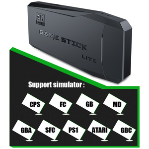 Image 3 - נתונים צפרדע Y3 לייט 10000 משחקים 4K משחק מקל טלוויזיה וידאו משחק קונסולת 2.4G אלחוטי בקר עבור PS1/SNES 9 אמולטור רטרו קונסולה