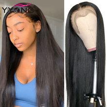 Parrucche per capelli umani anteriori in pizzo YYONG 13x6 per donne nere parrucche frontali in pizzo dritto brasiliano Remy attaccatura dei capelli Pre pizzicata 10-18 pollici