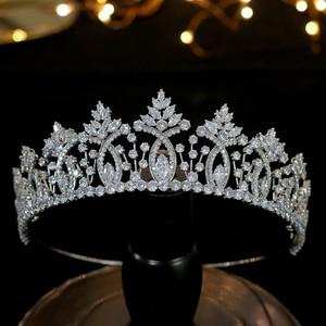Image 2 - Vintage Baroque Crystal tiara Wedding Hair Accessories High Quality Bridal Zirconia Crown Wedding Dress Pairing Accessories