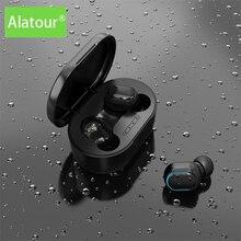 Alatour Drahtlose Kopfhörer Bluetooth 5,0 Kopfhörer sport Earbuds Headset Mit Mic Lade box Kopfhörer Für alle smartphones