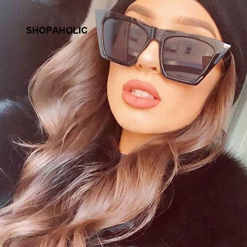 Fashion Cat Eye Sunglasses Women Brand Designer Luxury Sun Glasses For Women Square Oversized Shades Female Lady