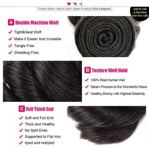 Image 3 - Ishow ผมบราซิลหลวมคลื่น 100% Human Hair Bundles ซื้อ 3 หรือ 4 กลุ่มแถมฟรีของขวัญบราซิลผมสาน
