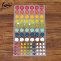QITAI 3Pcs/lot Enamel Resin Sticker DIY Scrapbooking Craft Making and photo album Decoration Sugar Sprinkles Self-adhesive ES018