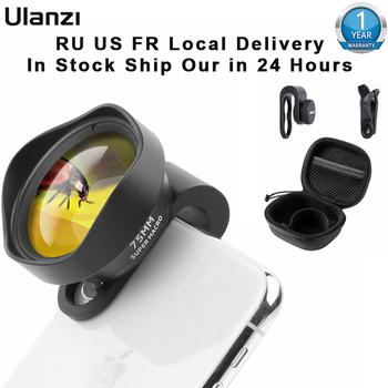 Ulanzi 10X 75MM 1.33X Macro Phone Camera Lens 17MM Thread Mobile Lens Clip On Lenses for iPhone Huawei Xiaomi Samsung Android 1