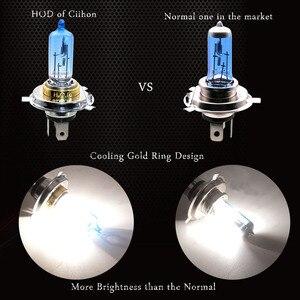 Image 5 - 4 STUKS Halogeen Lamp H4 12V 100/90W 5000K Xenon Donkerblauw Glas Auto Koplamp Lamp super Wit