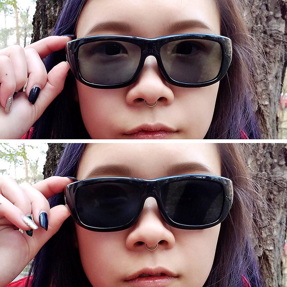 2020 Original Design Magic LCD Sunglasses Men Polarized Sun Glasses Adjustable Transmittance Darkness Liquid Crystal Lenses 2