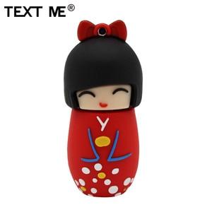Image 5 - TEXTO ME 64GB dollusb vermelho rosa preto azul roxo cor mini Japonês dos desenhos animados flash drive usb2.0 4GB GB GB 32 16 8GB pendrive