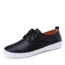 2020 Spring Women Ballet Flats Oxford Flat Shoes Soft Leather Shoes Ladies Lace Up White Black Loafers Flats Boat Shoes genuine leather ladies flats sneakers shoe women casual loafers shoes female hollow moccasins white lace up canvas boat shoes