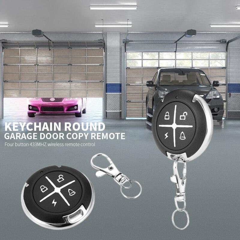 Hot Sale 433mhz Remote Control Garage Gate Door Opener Wireless Rf 4 Channel Remote Control Clone Cloning Code Car Key