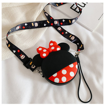 Disney mcikey mouse Girlfriend Back Children Chain Headphone Bag Silicone Zipper Earphone Cables Key Storage Bag Cute Coin Purse 2017 new designs solid colors coin purse silicone round dollar coin wallet portable key bag case headphone storage zipper pouch