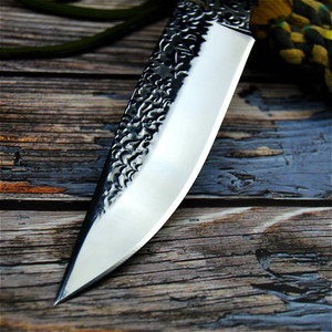 Image 5 - Germany DC53 steel hunting knife forging mirror light sharp tactical straight knife collection ritual knife +leather cases