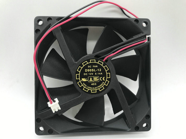 For Y.L FAN D90SL-12 DC 12V 0.14A 92x92x25mm 2-wire Server Square Fan