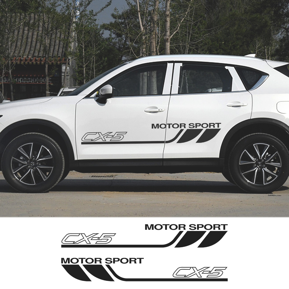 2PCS Auto Wrap Graphic Vinyl <font><b>Stickers</b></font> Film For <font><b>Mazda</b></font> CX-<font><b>5</b></font> Sport Car Door Side PVC Decals Auto Body Decoration Racing Accessories image