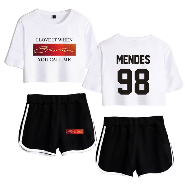 SET SHAWN MENDES SHORT + T-SHIRT (30 VARIAN)