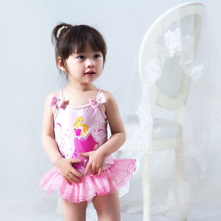 Pink Ballet Tutu Camisole Cute Princess Dress-One-piece KID'S Swimwear Infants Baby GIRL'S Swimwear
