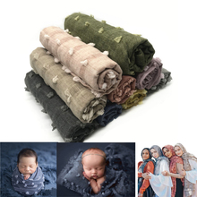 цена на Newborn Baby Photography Props Blanket Prop Wrap Cotton Baby Blanket Photo Backdrops Muslim Wraps