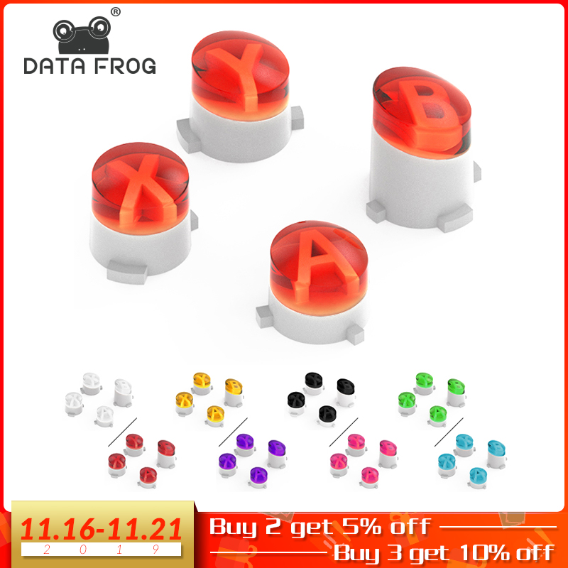 DATA FROG For Xbox One Controller ABXY Buttons Mod Kit For XBOX One Slim/Xbox Elite Gamepads 9 Colors Transparent Repair Part