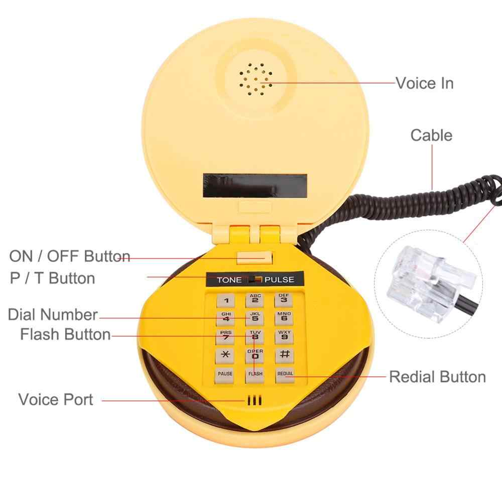 Baru Emulasional Hamburger Kabel Telepon Telepon Rumah Dekorasi Rumah Telepon Telepon Rumah Baru